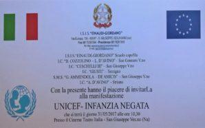 """""""Unicef-Infanzia Negata"""": mercoledì 31 maggio l'evento dell'Einaudi- Giordano al Cinema…"""