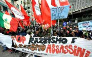 Napoli, corteo antirazzista per Diene, senegalese ucciso a Firenze