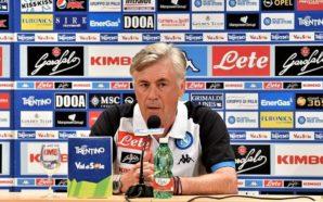 Post-partita Lazio Napoli. Ancelotti pacato e fiducioso