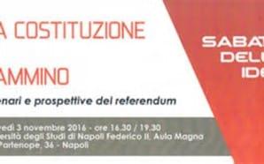 """Napoli, """"La Costituzione in cammino"""": la sfida del sì e…"""