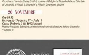 Premio Napoli 2017, il 19 e 20 novembre Andrea Inglese,…