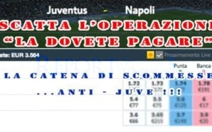 """Scommessa anti-Juve: """"Operazione la dovete pagare"""""""