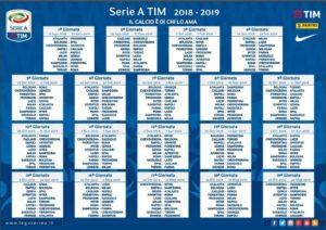 Calendario Lega Pro Girone B Anticipi E Posticipi.Calendario Serie A 2018 19 Le Date Delle Partite Orari