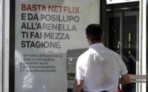 Pubblicità Netflix vs traffico di Napoli