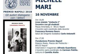 """Premio Napoli, il 16 Novembre Michele Mari presenta """"Leggenda Privata""""…"""