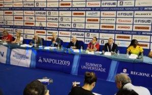 Summer Universiade 2019. Conferenza stampa di presentazione alla Mostra d'Oltremare